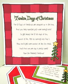 12 Days of Christmas Gift Ideas For Missionaries Twelve Days of Christmas For Missionaries [410-11-454] - $4.00 : Parties and Patterns, Fun ideas grow here!
