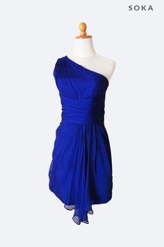 Electric Blue One Shoulder Dress
