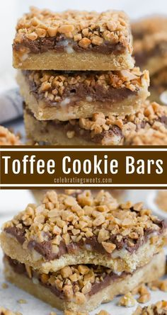 13 Desserts, Cookie Desserts, Delicious Desserts, Yummy Food, Toffee Candy, Toffee Cookies, Toffee Bar Cookie Recipe, Chocolate Toffee Bars, Candy Bar Cookies