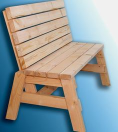 How To Build A Comfortable 2x4 Bench And Side Table