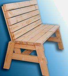 garden bench crom 2x4s