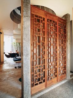 32 gorgeous and simple wood partition as room divider