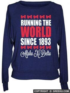 Alpha Xi Delta Boutique Running the World Raglan Pullover