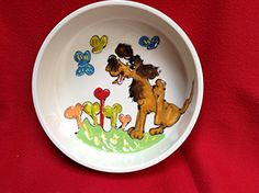 Water Bowl 8 Dog Bowl for Food or Water Personalized at no Charge Signed by Artist Debby Carman -- To view further for this item, visit the image link.(This is an Amazon affiliate link)