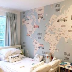 Little Hands Wallpaper Baby Bedroom, Baby Boy Rooms, Kids Bedroom, Baby Decor, Kids Decor, Little Hands Wallpaper, Bathroom Kids, Room Wallpaper, Playroom