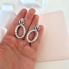 Trifari - Bridal Clip on Earrings - Rhinestone Earrings - Wedding Earrings - Bride Earrings - Clip Earrings - Vintage Earrings - Wedding Day