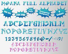 Moana Full Alphabet Numbers and Symbols 284 PNG 300 dpi