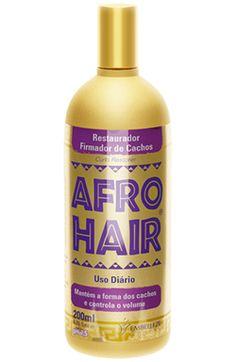 AfroHair Restaurador Firmador de Cachos. B. Reconstrução.