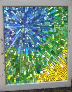 nebula | Glass on glass mosaic, used blue, green and yellow … | Flickr