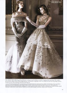 """Models: Frida Gustavsson and Karlie Kloss 