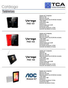 Mini catálogo de tabletas