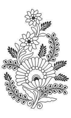 Full Peony Flowers Embroidery Design 21792