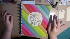 Learn how to maximize the use your mixed media or art journaling supplies by using them in your planner. I'm using the Happy Planner, but you can use any pla. Arc Planner, Step By Step Instructions, Happy Planner, Mixed Media, Art Journals, A5, Creative, Youtube, Mixed Media Art