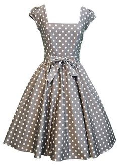 amazing mocha/white polka dot dress