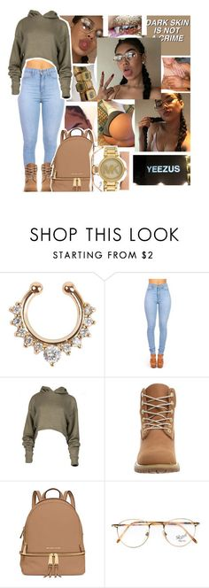 4-17-16 by eniola29 ❤ liked on Polyvore featuring Timberland, MICHAEL Michael Kors, Persol and Michael Kors #timberlandoutfits