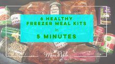 6 Healthy Freezer Meal Kits in 5 Minutes with Mesa de Vida Healthy Cooking Sauces