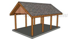 This step by step woodworking project is about free single lean to carport plans. I have designed this sturdy carport with a lean to roof, so you can protect your vehicle from the weather elements. Lean To Carport, Building A Carport, Carport Plans, Double Carport, Carport Garage, Pergola Plans, Building Plans, Diy Garage, Building Ideas