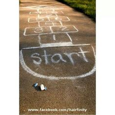 I loved my hopscotch so much that my parents painted me one on our 70 foot driveway, along with my 2 square which doubled as free  throw and 3 point lines for the basketball goal.