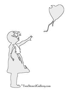 Banksy-Balloon Girl Stencil
