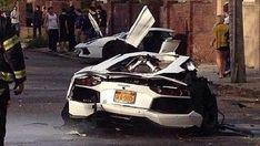 Lamborghini Aventador Split In Two In Brooklyn, NY