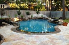 Your pool is the focal point of your backyard. Make sure you find a reliable company to help service it. (Photo courtesy of Angie's List member Julianne C. of Houston)
