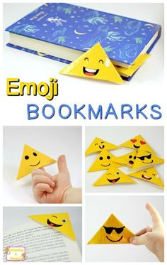 Love emojis? Then you will love these emoji bookmarks made from duct tape! Duct tape bookmarks are so easy and make perfect teen and tween crafts. #artsandcraftssurely,