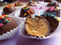 Peanut Butter Cookie Dough Truffles - Crazy for Crust Peanut Butter Truffles, Cookie Dough Truffles, Chocolate Peanut Butter Cookies, Cake Truffles, Chocolate Hazelnut, Cupcakes, Truffles Recipe, Chocolate Truffles, Just Desserts