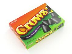 Crows are licorice gum drops. You probably remember them as Mason Black Crows.Orders placed by midnight usually ship on the next business day.