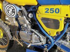 CZ 250 engine close-up