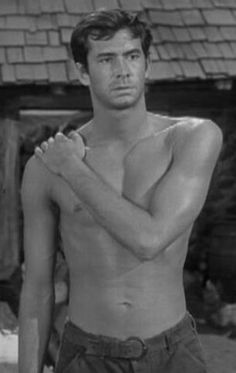 """1960s Shirtless Movie Star Anthony Perkins Vintage Old Photo 4"""" x 6"""" Reprint"""