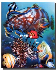 Transform your habitat from wild to wow in the blink of an eye by hanging this tropical underwater ocean art print poster. This bold wall poster instills you with bravery and grace of this storied sea creature! This poster is made up of using high quality papers which guarantees product durability and its high degree of color accuracy which ensures zero percent color fading. Hurry up and grab this wonderful wall poster for its durable quality and high degree of color accuracy.