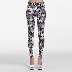 Women's Contrast Skull Pattern Allover Leggings . Like this style? Click the picture to see more!