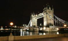 Tower Bridge, London, United Kingdom: A general view of Tower Bridge by night.