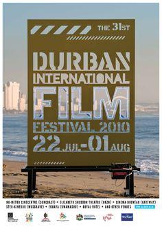 Durban International Film Festival 2010 (For Film Festival News, visit… Festival Cinema, Festival Posters, Art Festival, Graphic Design Posters, Graphic Design Typography, Wayfinding Signage, Environmental Graphics, Work Inspiration, Typography Logo