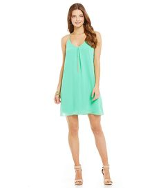Mint Foam:Gianni Bini Sleeveless Alayna Shift Dress