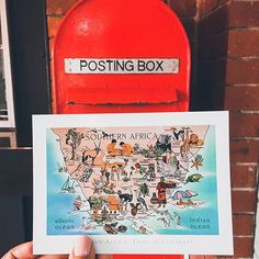 31 Likes, 0 Comments - CapeTown Art Watercolour, Post Box, Post Office, Cape Town, Africa, Ocean, Photo And Video, Videos, Cards