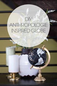 DIY Anthropologie Wanderlust Globe Tutorial via decordaydreams.com