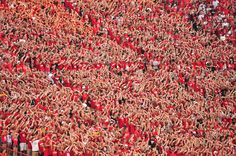 Nebraska Huskers Fans in Student Section