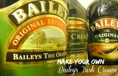 You can make your own Bailey's Irish cream at home with just a few ingredients