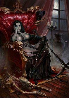 Ideas For Fantasy Art Vampire Blood Fantasy Warrior, Fantasy Girl, Fantasy Art Women, Dark Fantasy Art, Fantasy Artwork, Dark Art, Female Vampire, Vampire Girls, Vampire Art
