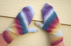 On the bias: Aquarelle Mittens