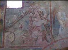 Santa Maria d'Anglona, affreschi : Torre di Babele. Gli affreschi sono di stile greco-bizantino ed hanno una datazione avanzata, tra il XIII e il XIV secolo.