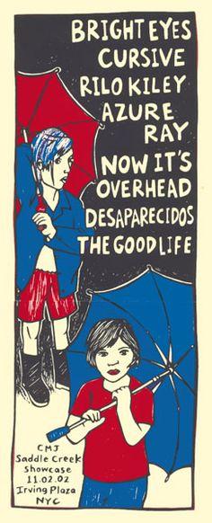 GigPosters.com - Bright Eyes - Cursive - Rilo Kiley - Azure Ray - Desaparecidos - Good Life, The
