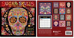 Day of the Dead Stickers: Artistic Sugar Skull Stickers for Dia de los Muertos