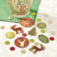Enjoy a cozy Christmas celebration by scattering this cardstock and foil confetti on your table! The designs within this collection of assorted Cozy Christmas Confetti will fill the air with the sense of rustic, classic Christmas holidays of yesteryear