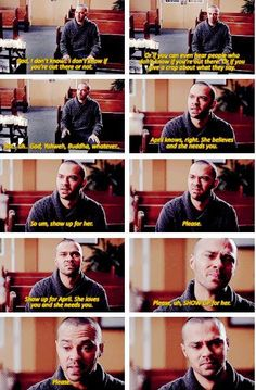 Grey's anatomy. This scene was so heart breakingly beautiful.
