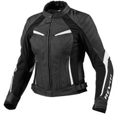 Blouson moto femme Rev'it XENA LADIES Noir/Blanc 351.40 € ixtem + prendre dorsale seesoft rev'it