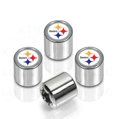 e00b3f543 Pittsburgh Steelers NFL Logo Car Truck SUV Van Chrome Tire Valve Stem Caps