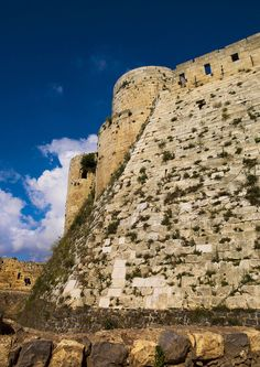 https://flic.kr/p/bR1eav | Krak des Chevaliers, Homs, Syria | Krak des Chevaliers is a Crusader castle in Syria and one of the most important preserved medieval castles in the world,the site was first inhabited by a settlement of Kurds,in 1142 it was given by Raymond II, Count of Tripoli, to the Knights Hospitaller and it remained in their possession until  1271  © Eric Lafforgue  www.ericlafforgue.com
