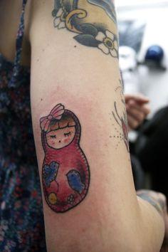 Matryoshka tattoo...this gives me an idea!